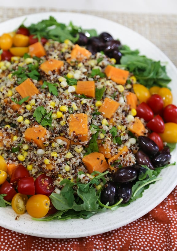 Quinoa, Sweet Potato, and Corn Salad recipe