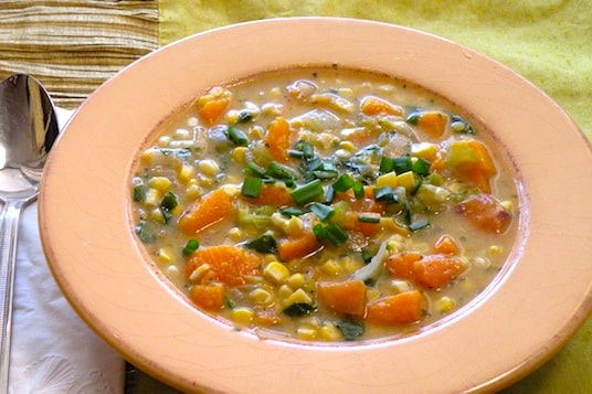 Squash and corn chowder recipe