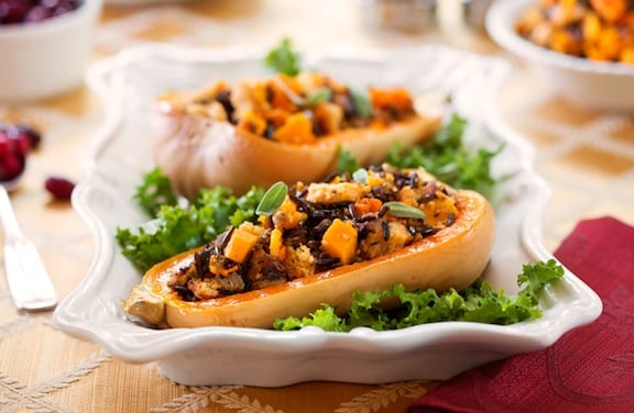 Whole wheat and wild rice-stuffed butternut recipe 2