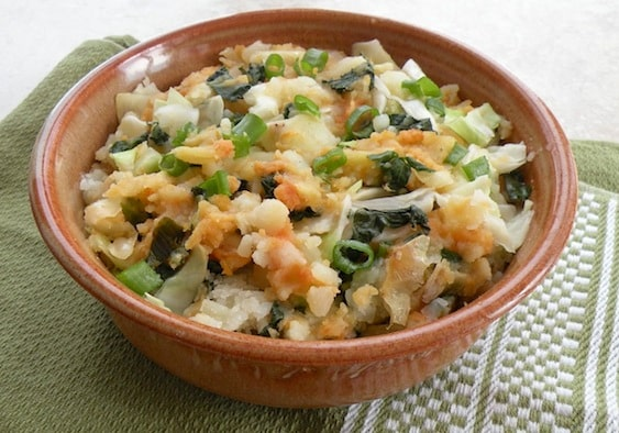 kale and cabbage colcannon