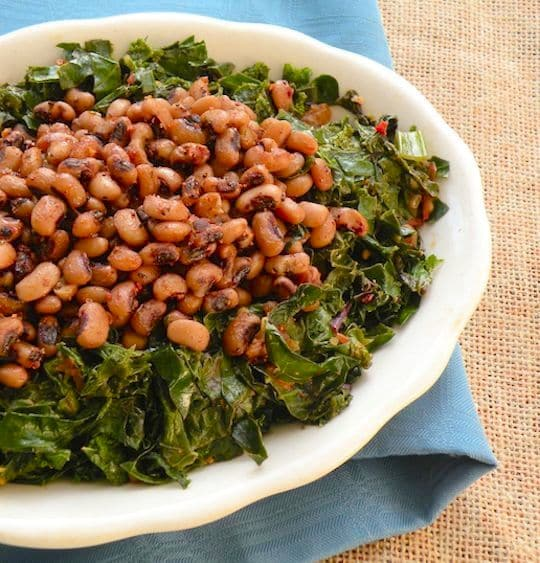 Black-eyed peas with greens