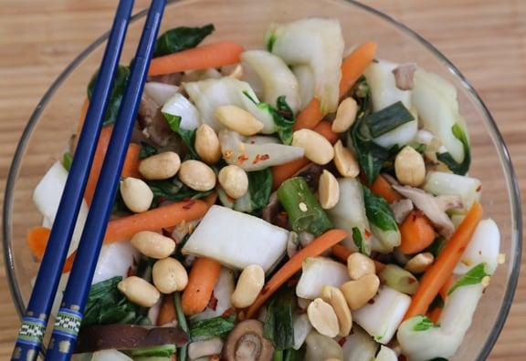 Bok choy and mushroom stir-fry recipe