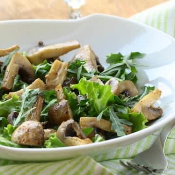 Roasted mushrooms rosemary