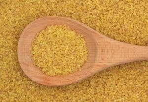 Bulgur on a spoon
