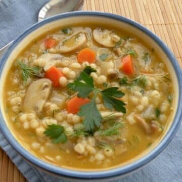 Classic Mushroom Barley Soup