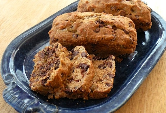 Chocolate chip pear blondies or mini-loaves