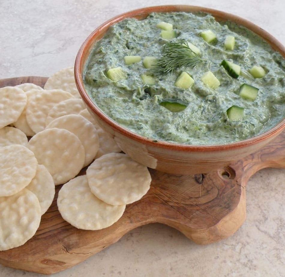 Spinach and cucumber dip