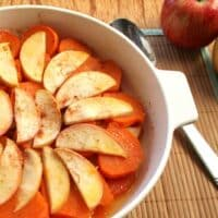 Baked sweet potatoes and apples