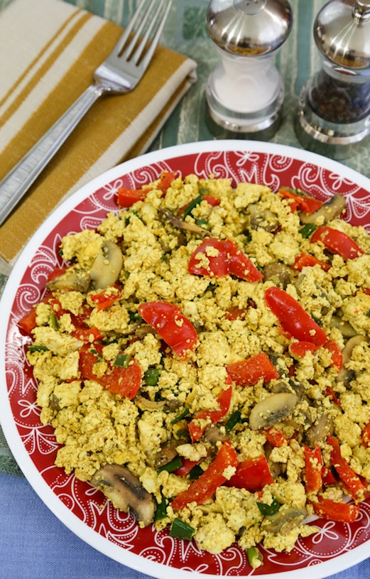 Tofu Scramble with Bell Peppers and Mushroom recipe