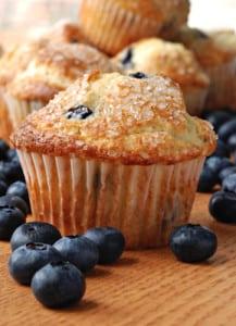 lemony blueberry muffins