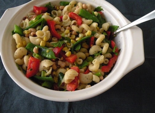 pasta salad with black-eyed peas