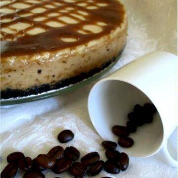 Vegan Caramel macchiato cheesecake