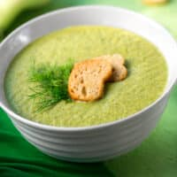 Creamed fennel soup