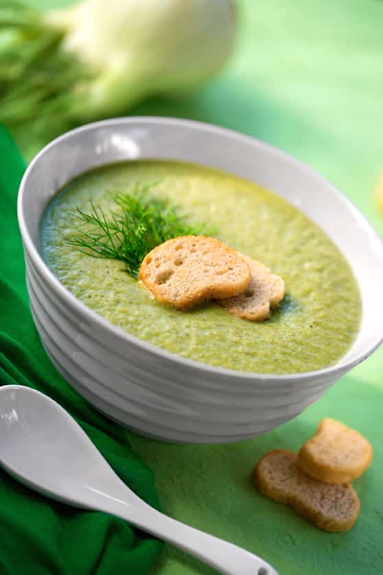 vegan creamed fennel soup