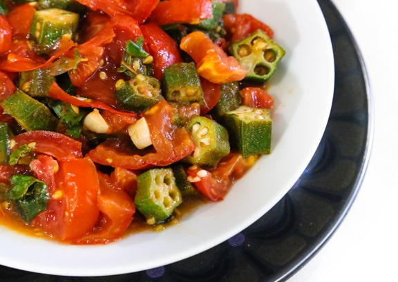 Creole Tomatoes with Okra recipe