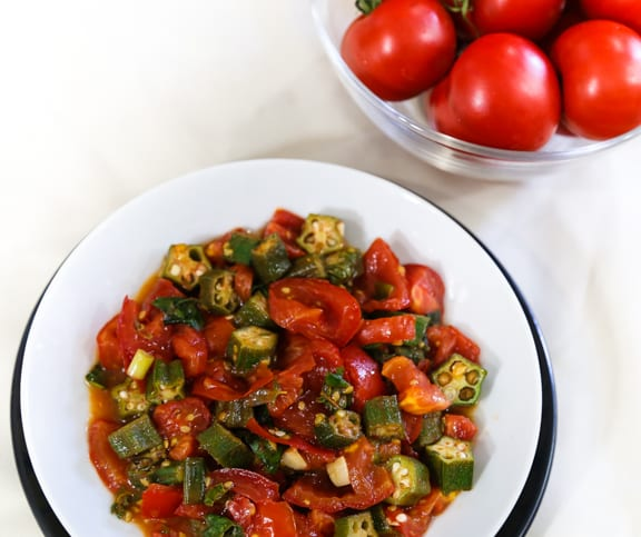 Creole Tomatoes with Okra - southern recipe