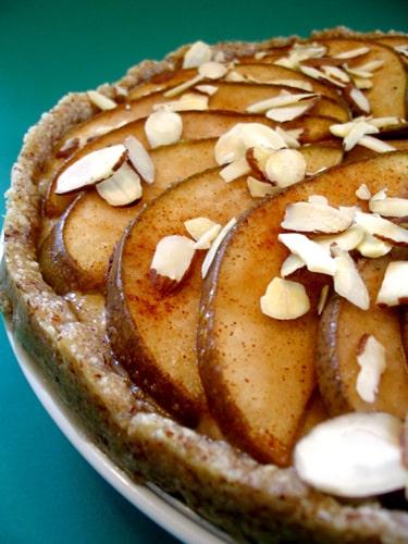 vegan cashew pear tart
