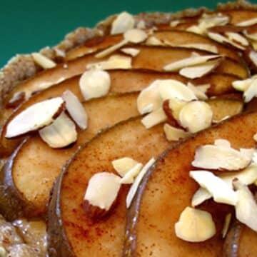 Cashew creme pear tart by Hannah Kaminsky