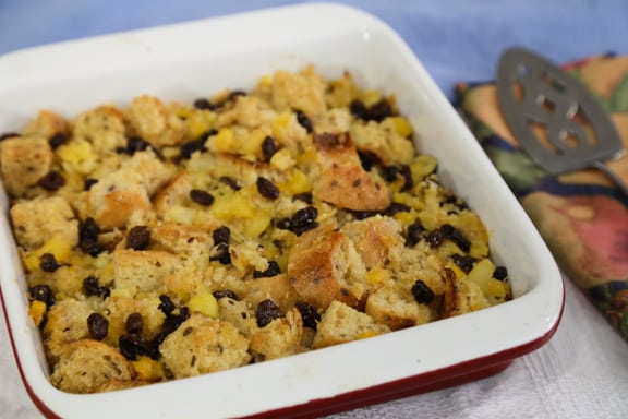 Pineapple Raisin Bread Pudding