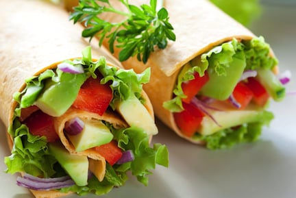 Tossed salad wraps recipe