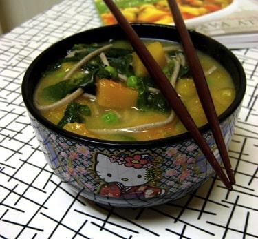 Miso-Butternut Squash Soup from Vegan Express