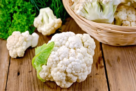 Cauliflower on a table