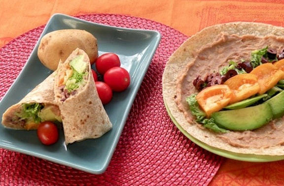 cool refried bean wraps recipe