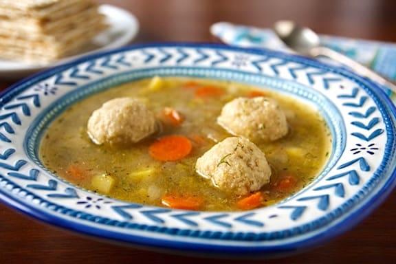 vegan matzo ball soup recipe