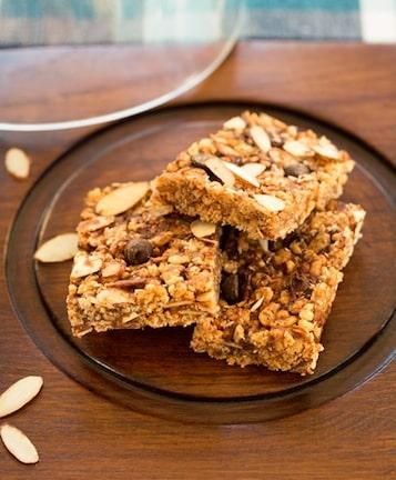 Crispy rice and almond treats