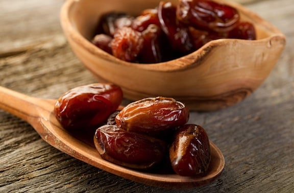 Dates on a spoon