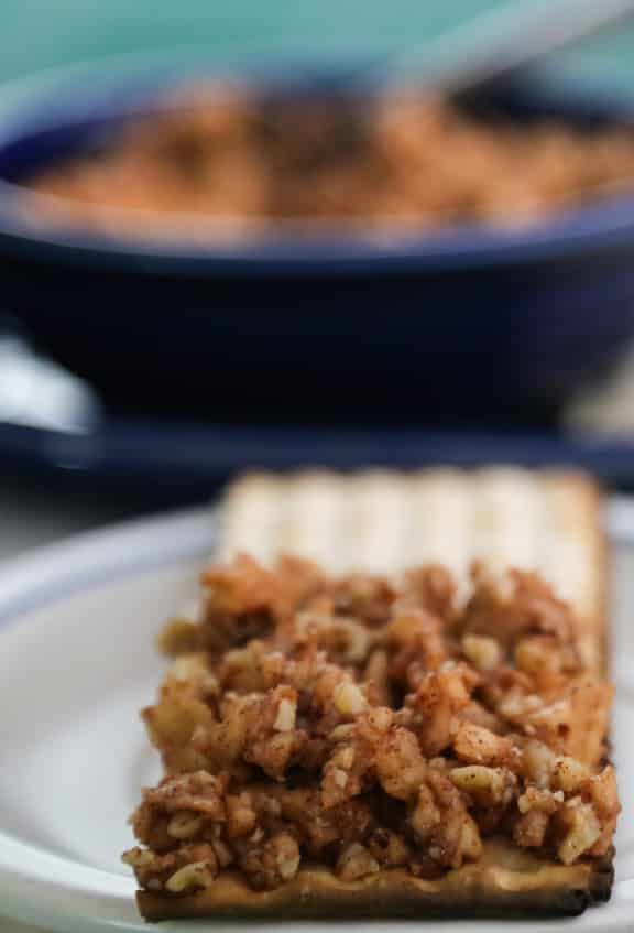 Passover apple and walnut haroset