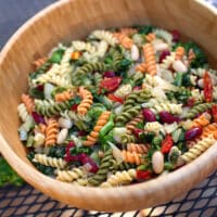 Pasta with two beans and escarole