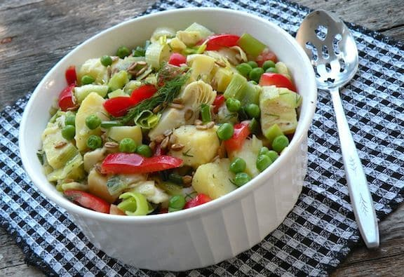 Potato and leek salad