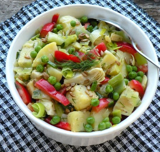Potato and leek salad recipe