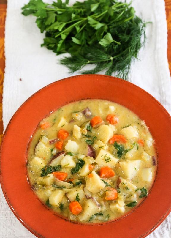 Vegan Parsnip Chowder recipe