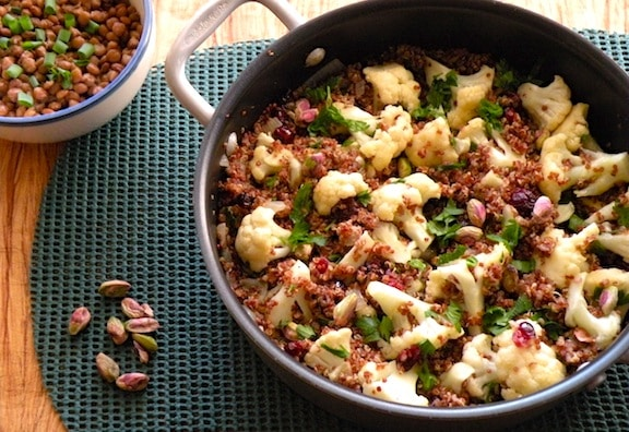 quinoa and cauliflower pilaf recipe