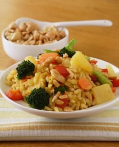 Thai pineapple stir-fried rice