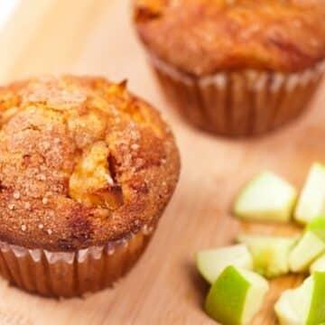 Granny smith apple flax muffins