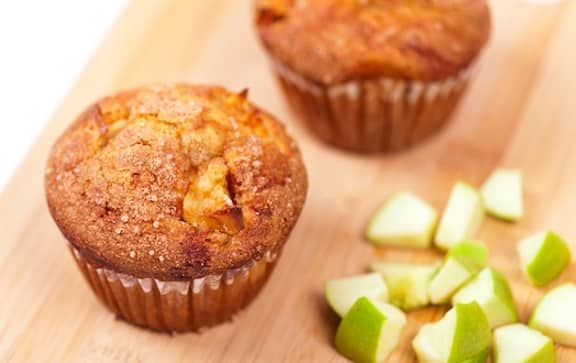 Granny smith apple flax muffins