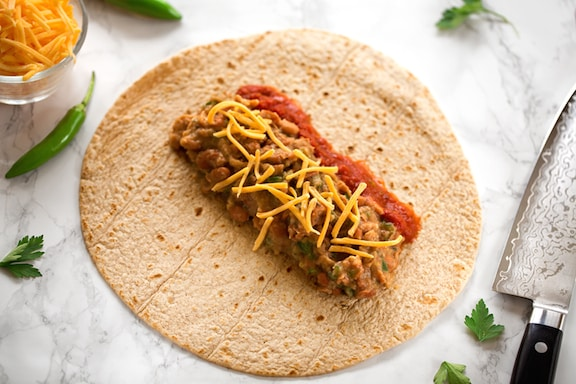 basic vegan bean burritos