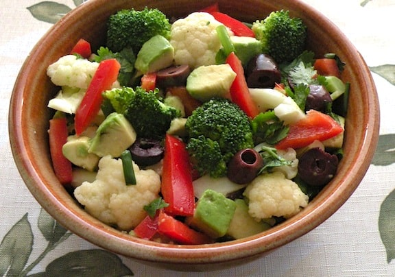 Marinated broccoli and cauliflower salad recipe