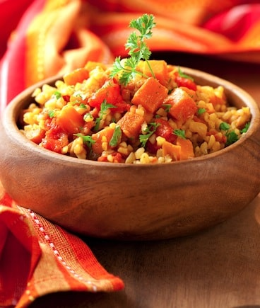 Bulgur pilaf with sweet potato recipe