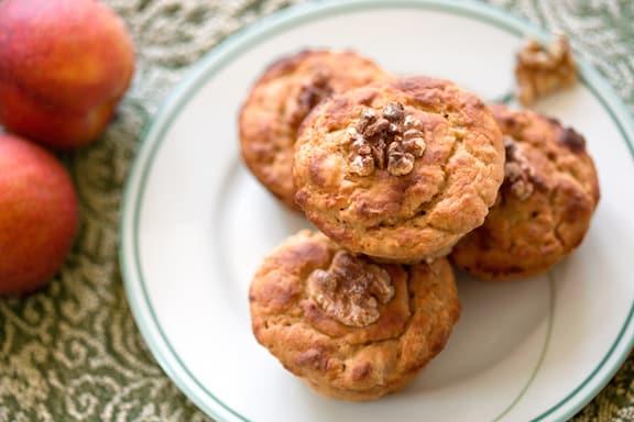 Vegan Gingery Peach of nectarine Muffins