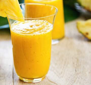 Juicy pineapple smoothie recipe