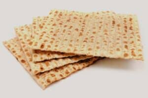 Matzo on white