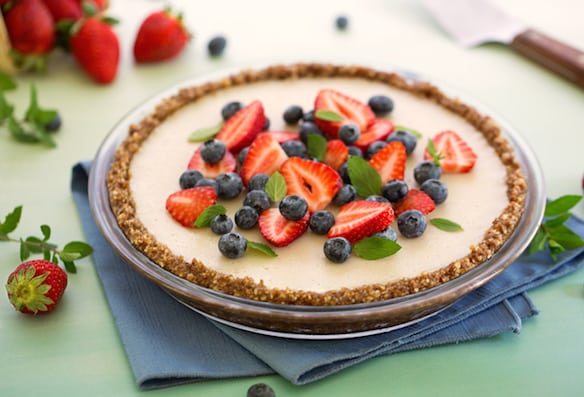 Nutty no-bake pie crust