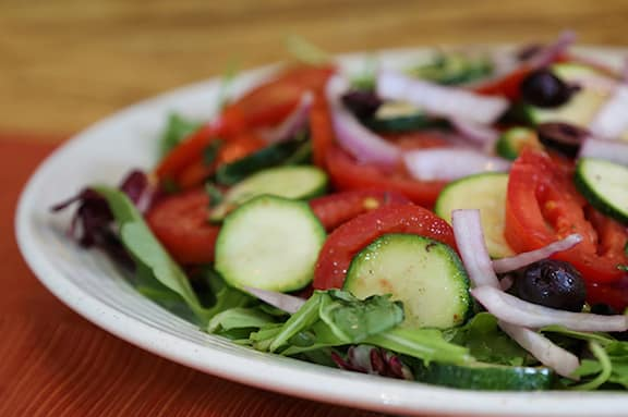 Tomato, Zucchini, and Red Onion Salad