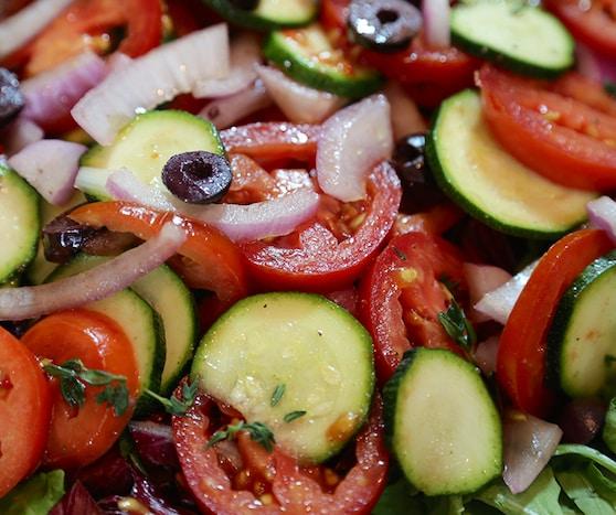 Tomato, Zucchini, and Red Onion Salad recipe