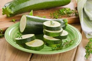 Zucchini on a cutting board