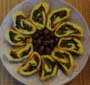 vegan spinach or arugula strudel